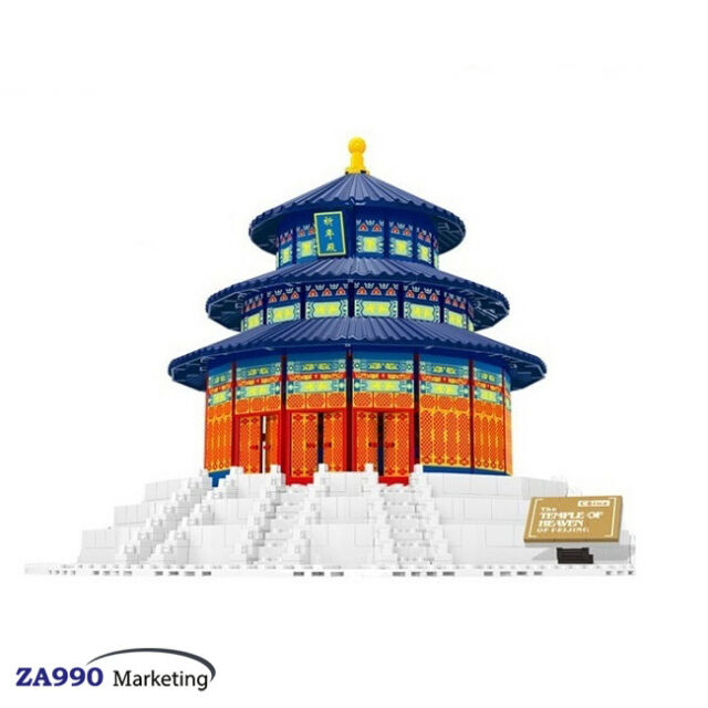 1052pcs Temple Of Heaven China Architecture Building Blocks Toys Gift For Kids
