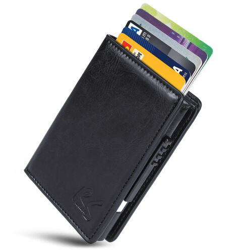 Anti-Theft Wallet RFiD Card Case Eco-Leather NanoRS Identity Theft Protection