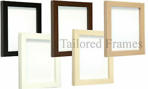 Square-design-Picture-and-Photo-Frames-in-Black-White-Walnut-Beech-Maple