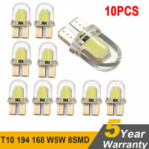 10X-LED-T10-194-168-W5W-8SMD-CANBUS-Silica-Bright-White-License-Light-Bulb-lamp