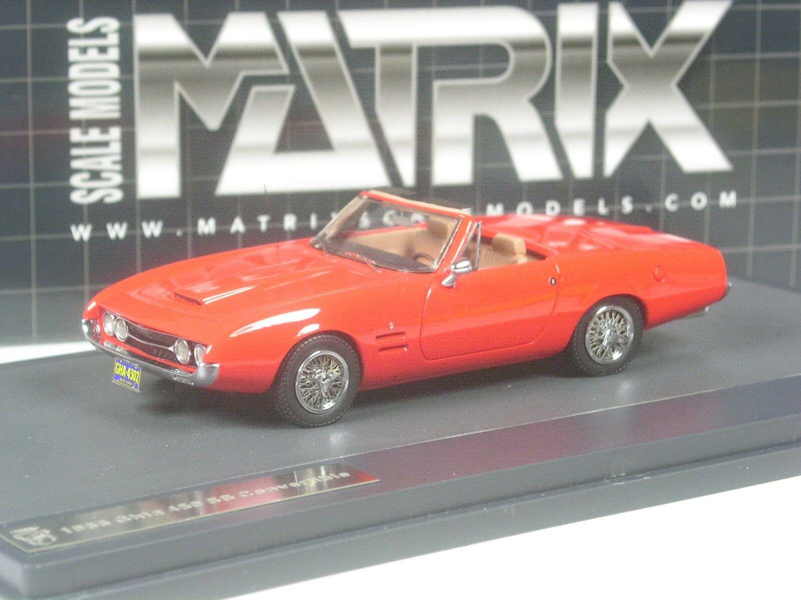Clase  matriz Ghia 450 SS converdeible 1966 rosso en 1 43 en OVP