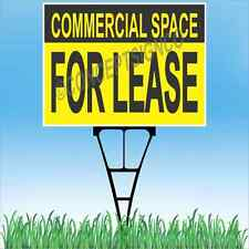 18x24 Commercial Space For Lease Outdoor Yard Sign Amp Stake Lawn Real Estate