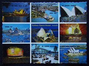 Sydney Opera House NSW 9 view NCV c1970's Postcard (P243)