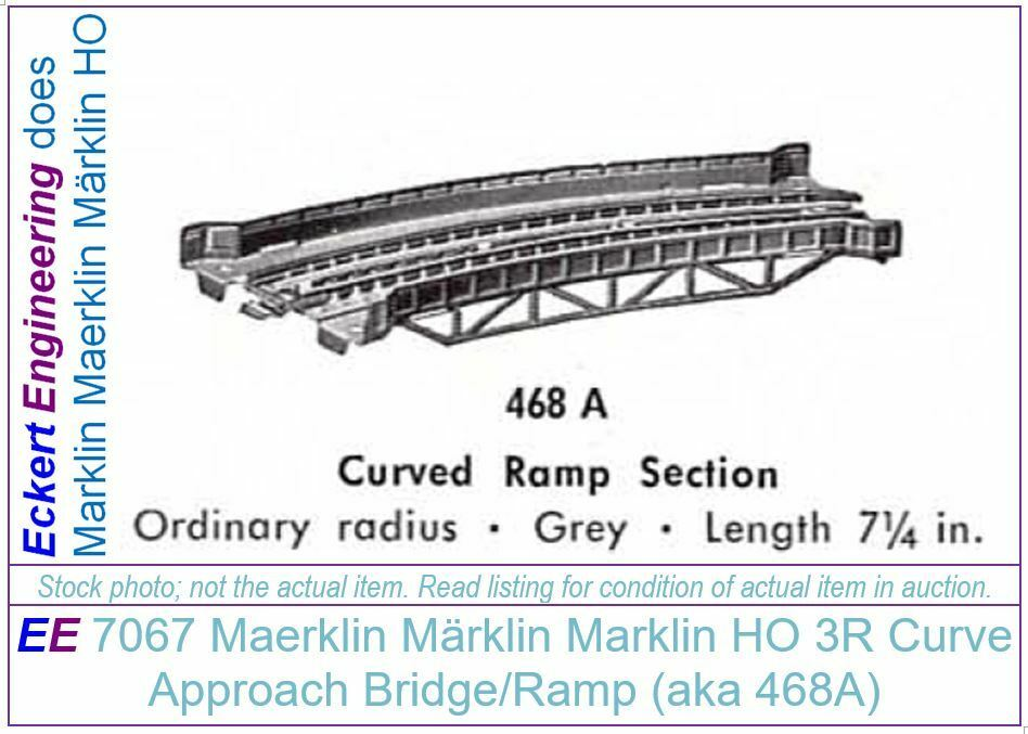 EE 7067 LN Marklin HO Metal Bridge Curve Ramp 3 järnväg Like New Brass Pk  3