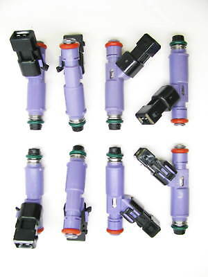 M-9593-LU24A SET of 8 BRAND NEW 24 lb FORD RACING FUEL INJECTORS w//adapters