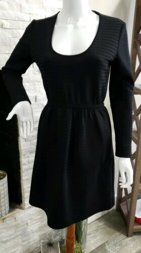 Vintage Goldworm Black Ribbed Empire Waist Dress W