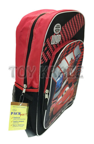 "BLACK RED ULTIMATE RIVALY RACE CAR LARGE SCHOOL DISNEY 16/"" NWT CARS BACKPACK"