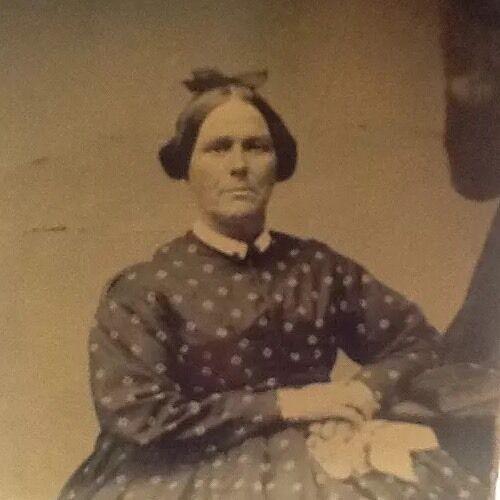 "2.25"" X 4"" Tintype:  Man in dress.  1860s"