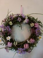 Gisela Graham Fritillaria Mixed Flowers And Twig Wreath/table Centre 37cm