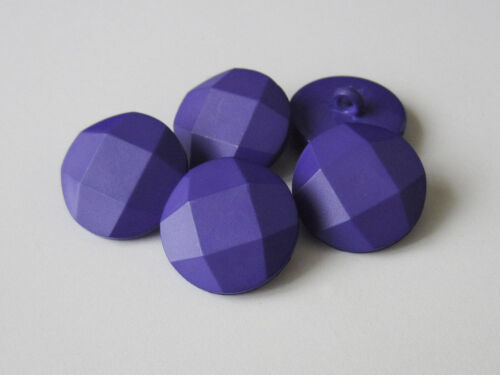 z090li-20 5 schöne facettierte lilafarbene Kunststoff Ösen Knöpfe