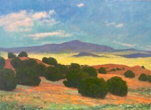 Large-24x18-Southwest-Desert-Western-Impressionism-Landscape-Art-Oil-Painting