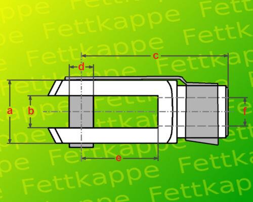 Sicherungsbolzen // ES-Bolzen Kontermutter M12 10x Gabelkopf 12x48 DIN71752