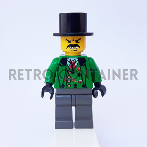 LEGO Minifigures 1x ww010 Poker Player Western Omino Minifig 6761 6769 Ecc