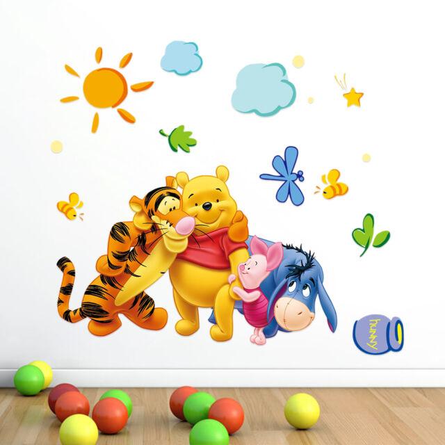 Cute Winnie the Pooh Girls gift kids room decor Wall sticker wall decals Mural