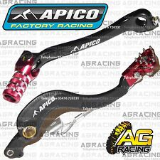 Apico Black Red Rear Brake & Gear Pedal Lever For Honda CRF 450R 2015 Motocross