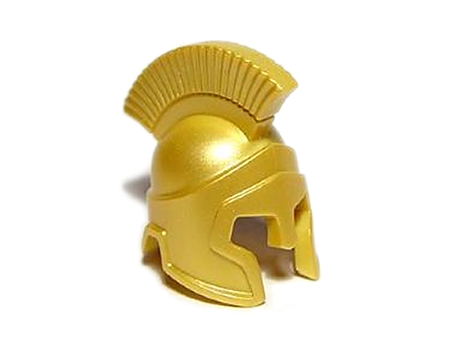 LEGO Minifig Headgear Helmet Spartan Warrior Pearl Gold