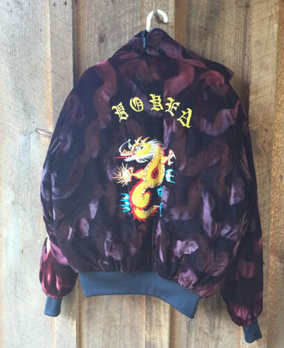 Vintage Crushed Velvet Embroidered Sukajan Jacket