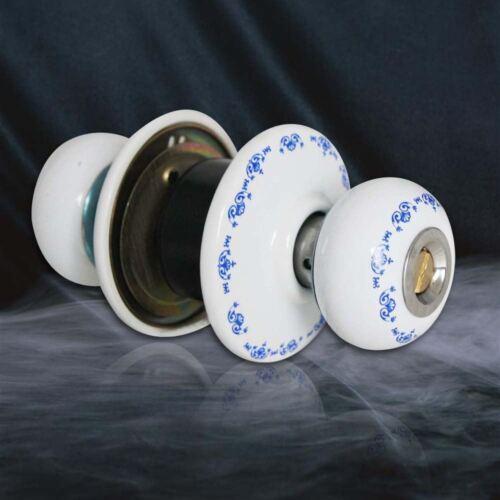 501616B décoratif porte knob white ceramic poignée entrée serrure loquet intimité