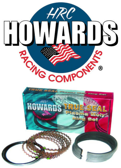 """Howards Cams SBC Chevy Piston Rings Plasma Moly 1//16 1//16 3//16 4.160/"""" File Fit"""