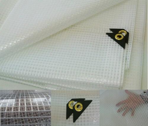 UV Resistant Fiber Reinforced Clear Tarp 20 X 20 14 mil Clear Greenhouse Tarp