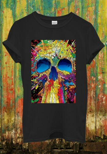 Cráneo Esqueleto Arte Dibujo Fresco Divertido Retro Unisex Hombres Mujeres Top T Shirt 616