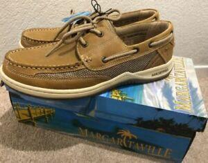 5dc6c7a590cb Margaritaville Light Tan Lace up Anchor Boat Shoe Mfm171119 Men's Size 11