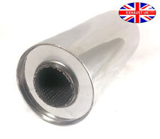 """Universal Silencer 6""""  2.5"""" x 12"""" Exhaust back box Stainless Steel Repair Part"""