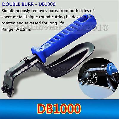 Noga DB1000 Sheet Metal Deburring Tool Double Burr 0-12mm Range Straight Edge