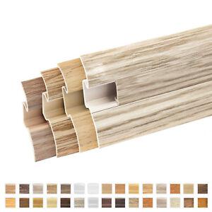 Fussleisten-Hoehe-62mm-PVC-Sockelleisten-Bodenleisten-Bodenbelaege-Montagematerial