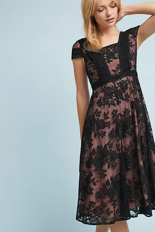 Be Remembered. NWT Anthropologie Opera Lace Dress by Moulinette Soeurs Sz8   178