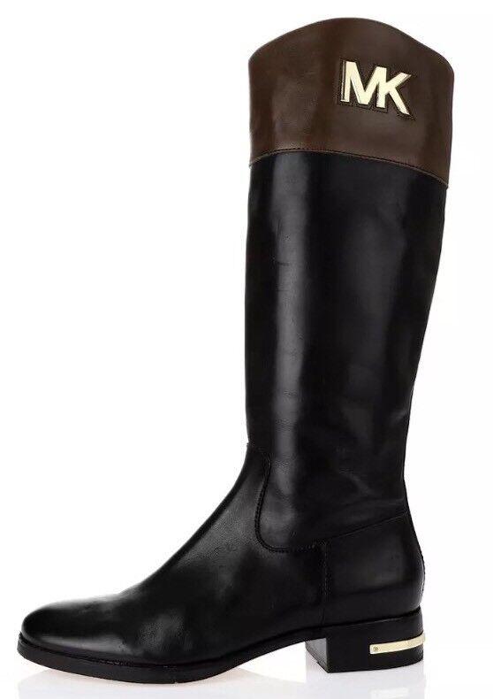 Michael Kors Hayley Leather Tall Boots Black Women Sz 6.5 M 6737*