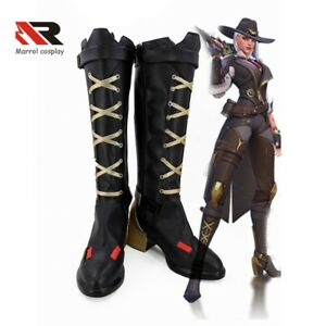 Details about Overwatch OW Elizabeth Caledonia Calamity Ashe Boots Cosplay  Shoes Comic Con