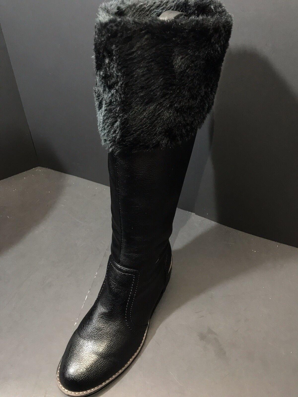 Softspots Womens Black Campbell Tall Boot Size US 9 M   EU 40.5
