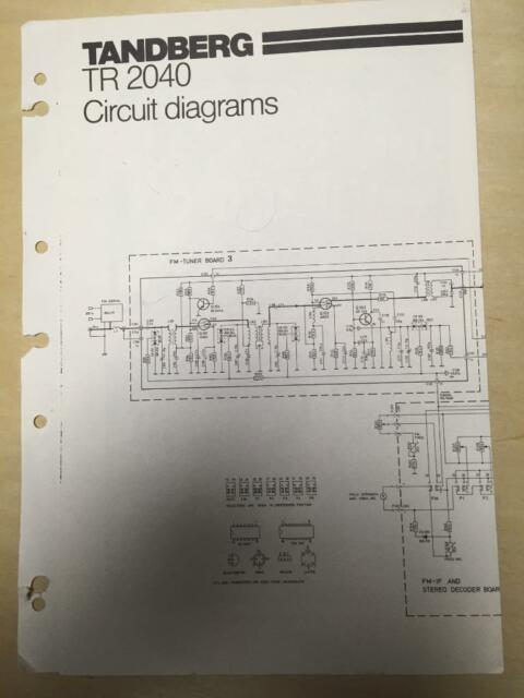 Tandberg Circuit Diagrams For The Tr 2040 Receiver
