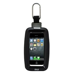 NEW-Pyle-Universal-Black-Waterproof-Case-for-iPhone-iPod-Cellphones-MP3s-W-Clip