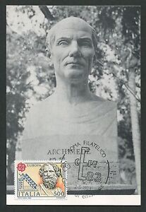 ITALIA-MK-1983-EUROPA-CEPT-ARCHIMEDES-MAXIMUMKARTE-CARTE-MAXIMUM-CARD-MC-CM-d371