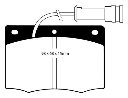 EBC Blackstuff Bremsbeläge Vorderachse DP437 für Ford Granada 2