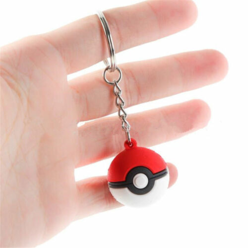2PCS Pokemon Pokeball Poke Ball Keychain Key Ring Bag Pendant Kids Gift