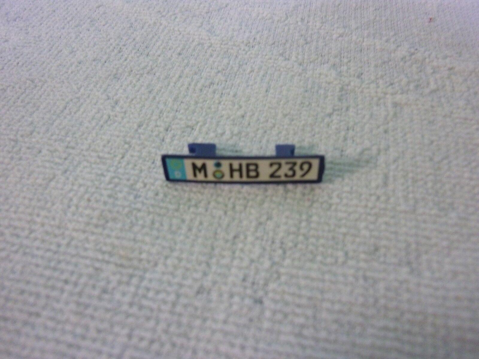 Plaque immatriculation pièce détachée miniature MAISTO BMW Z8 1 18 1 18e 1 18ème
