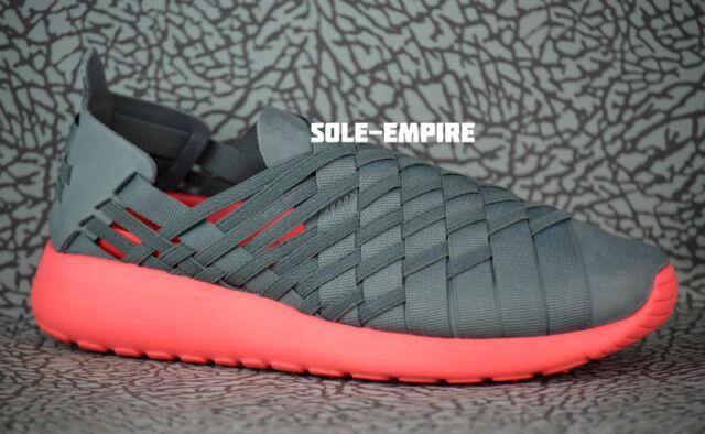 estilo atractivo bebé precios baratass Nike Rosherun Woven 2.0 Cool Grey Laser Crimson 641220-002 Womens ...