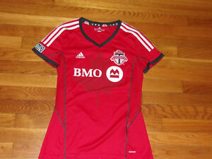 Image is loading ADIDAS-CLIMACOOL-TORONTO-SHORT-SLEEVE-SOCCER-JERSEY-WOMENS- a8d030756
