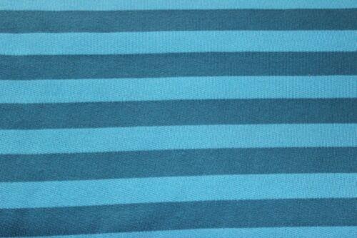 Sweatshirtstoff Swafing Streifen Türkis-Blau