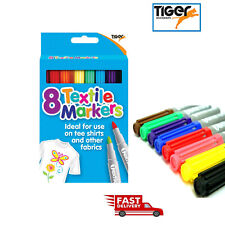 textile fabric markers set of 8 assorted colours