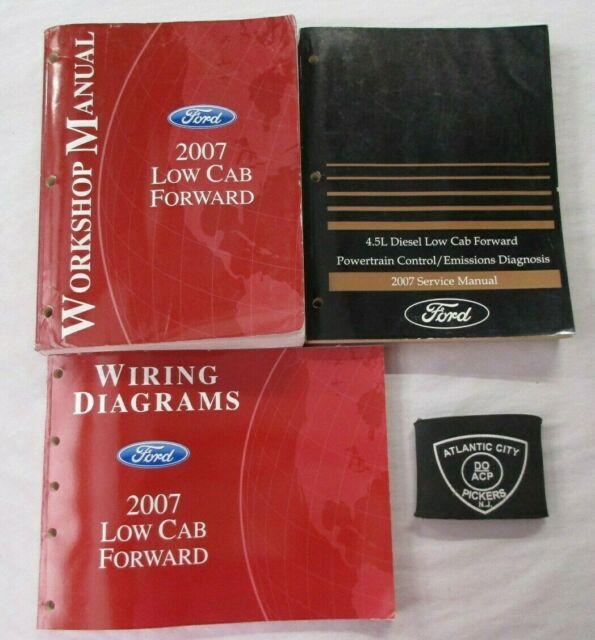 2007 Ford Low Cab Forward Service Shop Manual Powertrain  U0026 Wiring Diagrams Set
