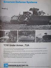 3/1982 PUB EMERSON DEFENSE SYSTEMS TUA TOW UNDER ARMOR ANTI TANK SYSTEM AD