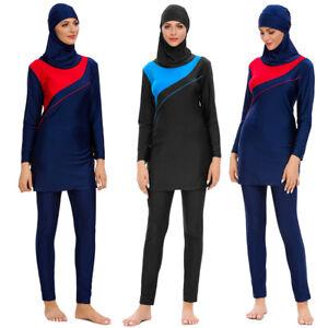 Mujeres traje de baño islámico cubierta completa Traje de baño Ropa de natación burkini musulmán Ropa de playa