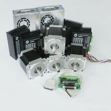 US Ship 4 nema 34 stepper motors 1232oz&4 drivers&4 sources 350W free ship