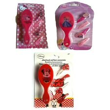 Disney Hair Brush With Clips 'Princess, Minnie, Hello Kitty' Assorted