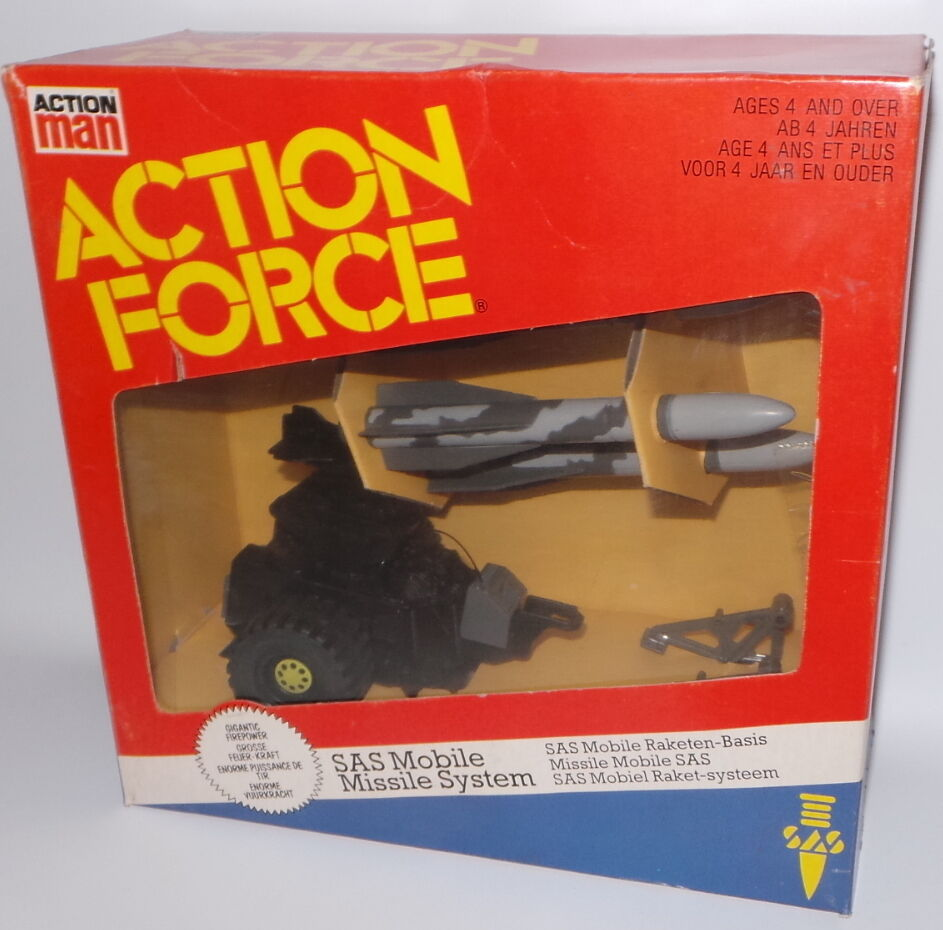 ACTION MAN   SAS MOBILE MISSILE SYSTEM PLASTIC MODEL SET MADE BY PALITOY (LFC9)