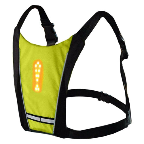 LED Signal Light Vest Safety Riding Wireless Remote Control for Night Cycling